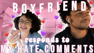 Boyfriend Responds to My Hate Comments!!! | aliyah simone