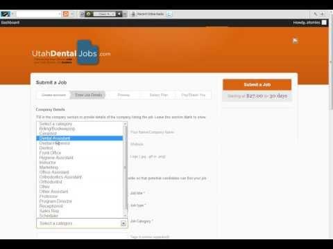 How to post a job listing on UtahDentalJobs.com (Utah Dental Jobs)