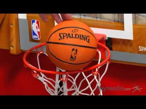 Spalding NBA Slam Jam Over The Door Mini Hoop   Product Review Video