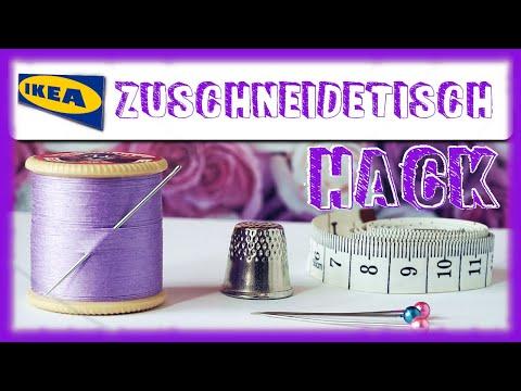Ikea Hack Nahtisch Zuschneidetisch Selber Bauen Leicht Youtube