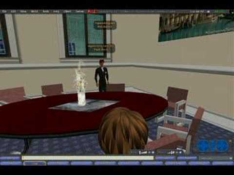 Second Life conference center