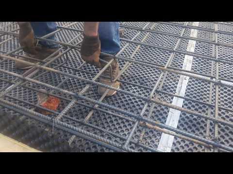 MasicHouse - Фундамент монолитная плита. Вязка арматуры