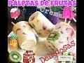 paletas de frutas con crema