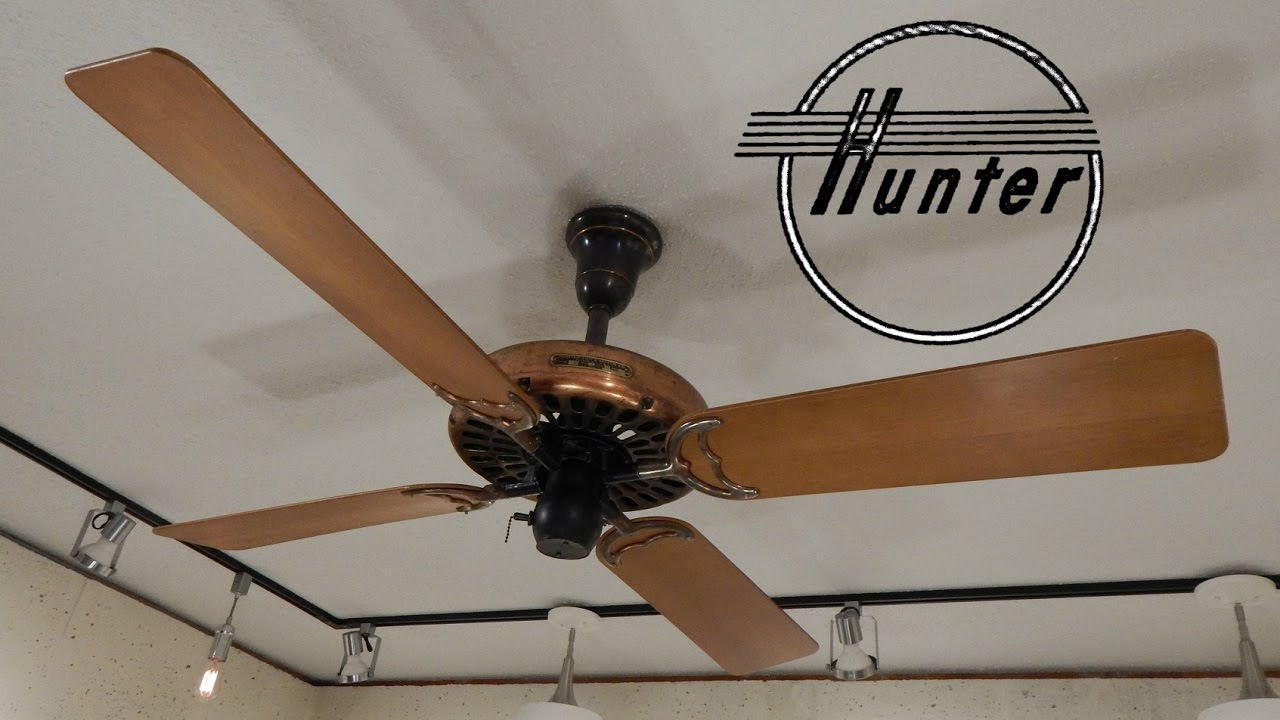 Hunter type 52 antique ceiling fan 1080p hd remake up for Hunter ceiling fan motor