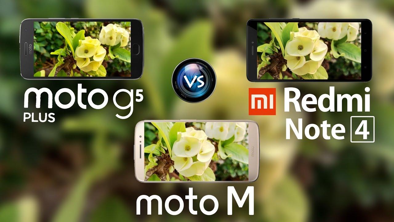 moto g5 plus vs redmi note 4 vs moto m in depth camera