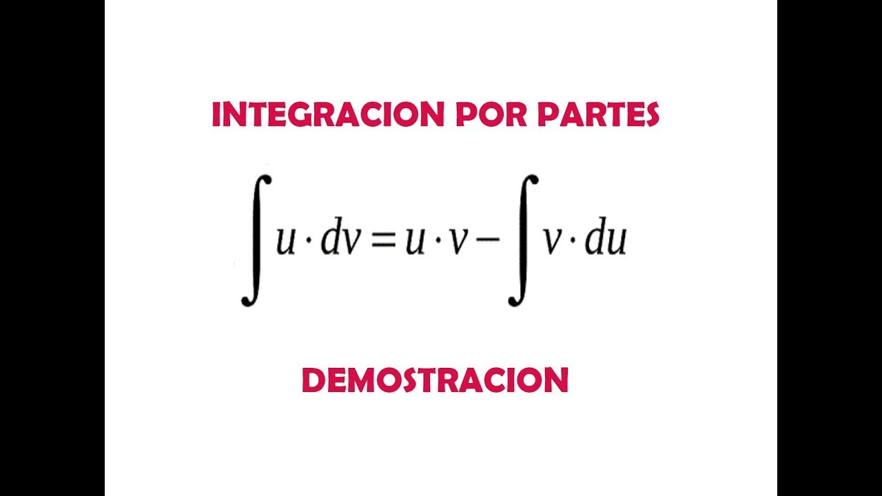 Demostracion De La Formula De Integracion Por Partes