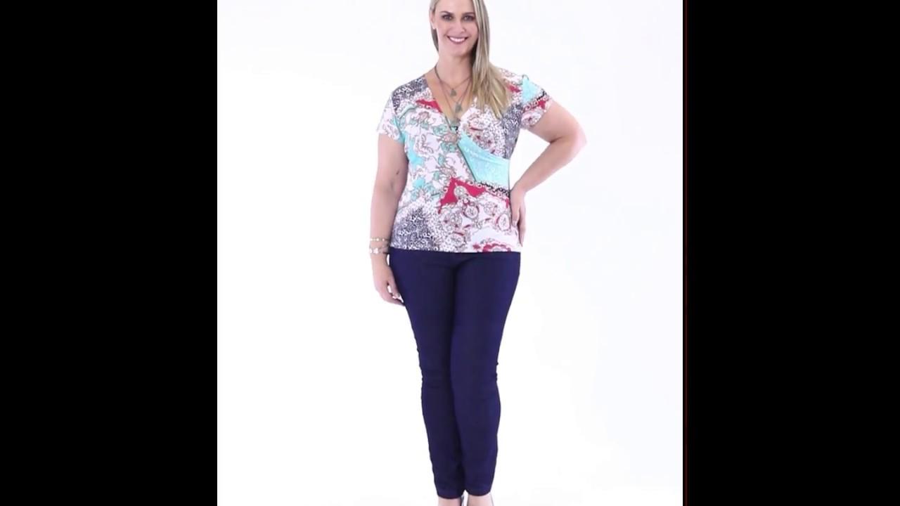 866f97dad Blusa decote V estampada e Calça Jeans Plus Size - Marguerite | Posthaus