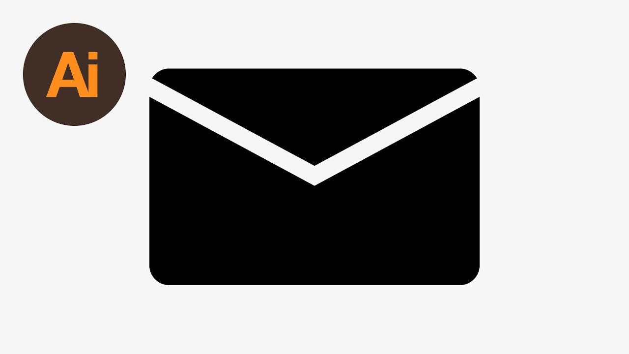 learn how to draw an envelope icon in adobe illustrator dansky rh youtube com vector email icon free vector icons email phone