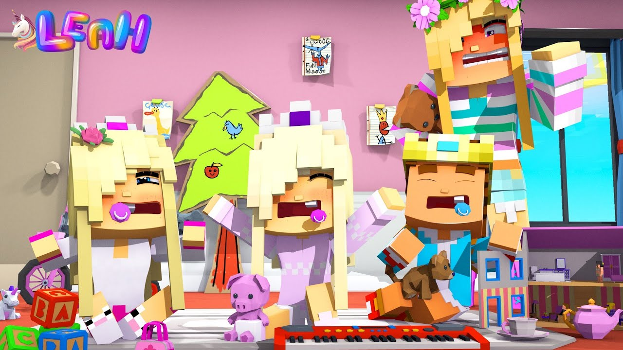 All of LITTLE LEAH'S KIDS GET GROUNDED FOR LIFE... Minecraft