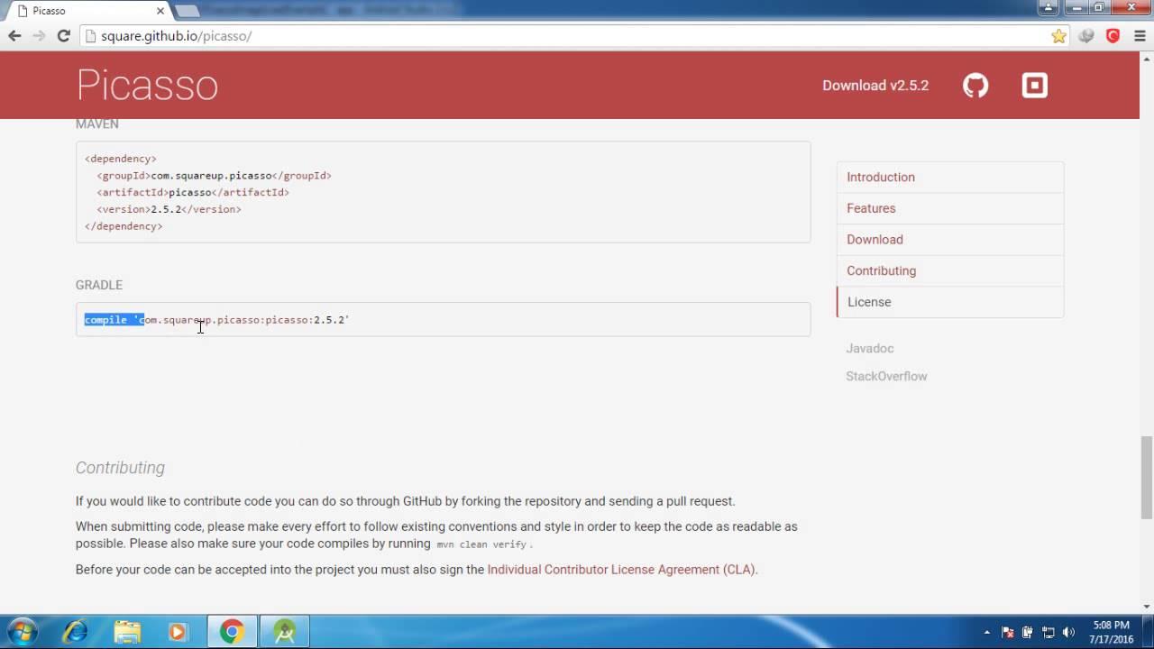 Universal image loader jar file download | Android Load