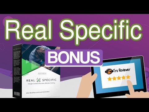 Real Specific with KILLER GIANT BONUS PACKAGE 7 Web Apps 35 Bonuses Total. http://bit.ly/2znBroP