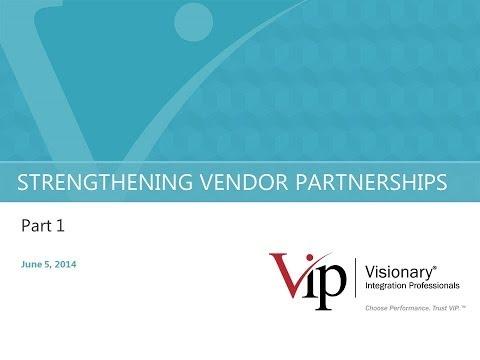 2014 Project Delivery Session 14 Part 2 Vendor Partnerships - A PSP Forum