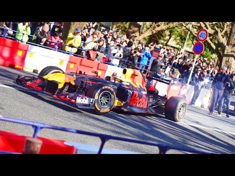 【F1が公道を爆走】東京でレッドブルのF1がデモラン 高音サウンド/Red Bull F1 demo run in Tokyo. LOUD Exhaust sound. #f1 #redbull