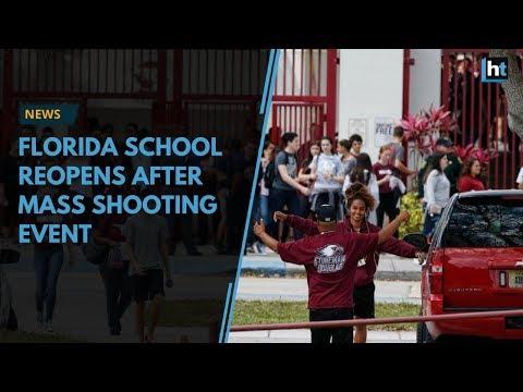 Marjory Stoneman Douglas High return back to school after mass shooting event