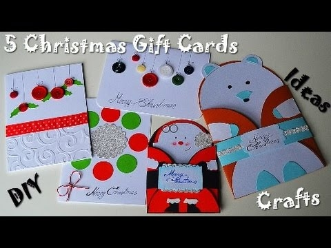 5 Christmas & New Year Gift Cards - DIY Paper Crafts Presents