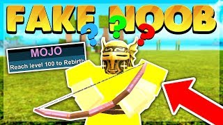 Tricking *Noob* Disguise Trolling Players (Roblox Booga Booga)