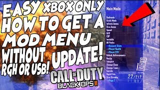 Black ops 2 HOW TO GET A *MOD MENU* EASY WITHOUT ANY USB OR MODDED XBOX! WORKS FOR XBOX ONE & 360!