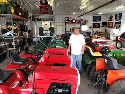 Minnesota Man's Vintage Garden Tractor Collection