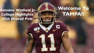 Antoine Winfield Jr.    Minnesota Highlights    2020 Draft Class    Tampa Bay Buccaneers