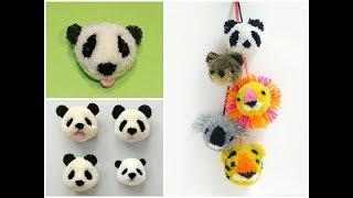 як зробити помпон для панди