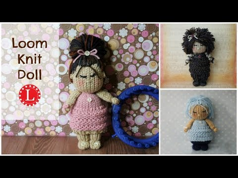 LOOM KNIT Dolls - Toys Project Pattern | Doll Hair Cloths on a  24-peg loom | Loomahat