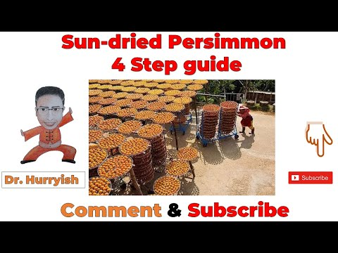 Sun-dried Persimmon | 4 Step guide