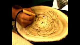Basics Of Pyrography (woodburning)portrait Part 5