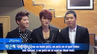 [Sub Español] HD 130221 Mensaje de JYJ por la Inauguración Presidencial de Park Geunhye
