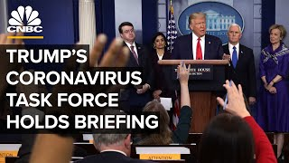 Gambar cover WATCH LIVE: Coronavirus task force holds briefing after Trump signs stimulus bill - 3/27/2020