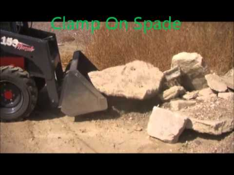 bucket clamp clamp on bucket spade youtube
