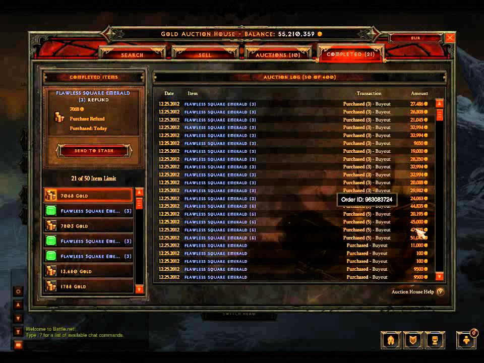 Gems Tv Live Auction Room Part - 32: Diablo 3 Working The Gem Auction House To Earn Gold