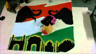 Independence Day Rangoli Stop Motion