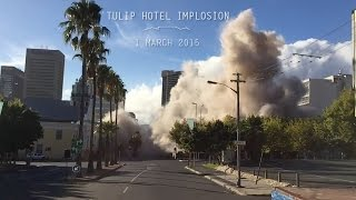 Official Tulip Hotel Implosion - Cape Town - 1 March 2015 { ROSS DEMOLITION }