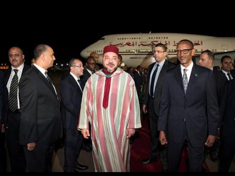 KING MOHAMMED VI OF MOROCCO IN RWANDA