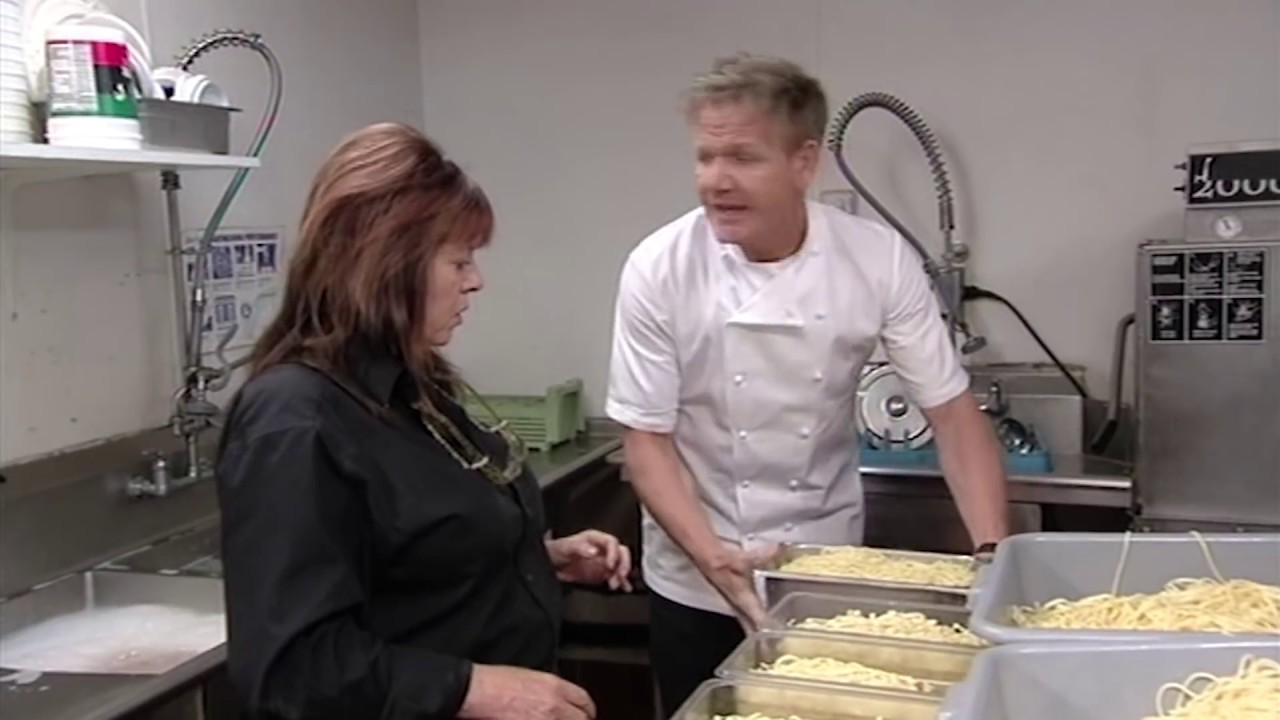 Restaurant Kitchen Nightmares empty restaurant has over 400 portions of pre-cooked pasta
