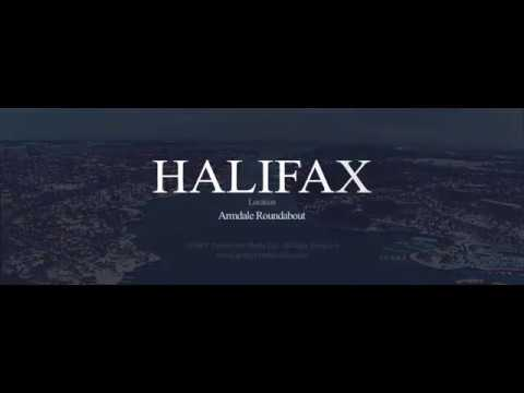 HALIFAX Aerial Photography Quinpool Roundabout - GOSKY Production Media