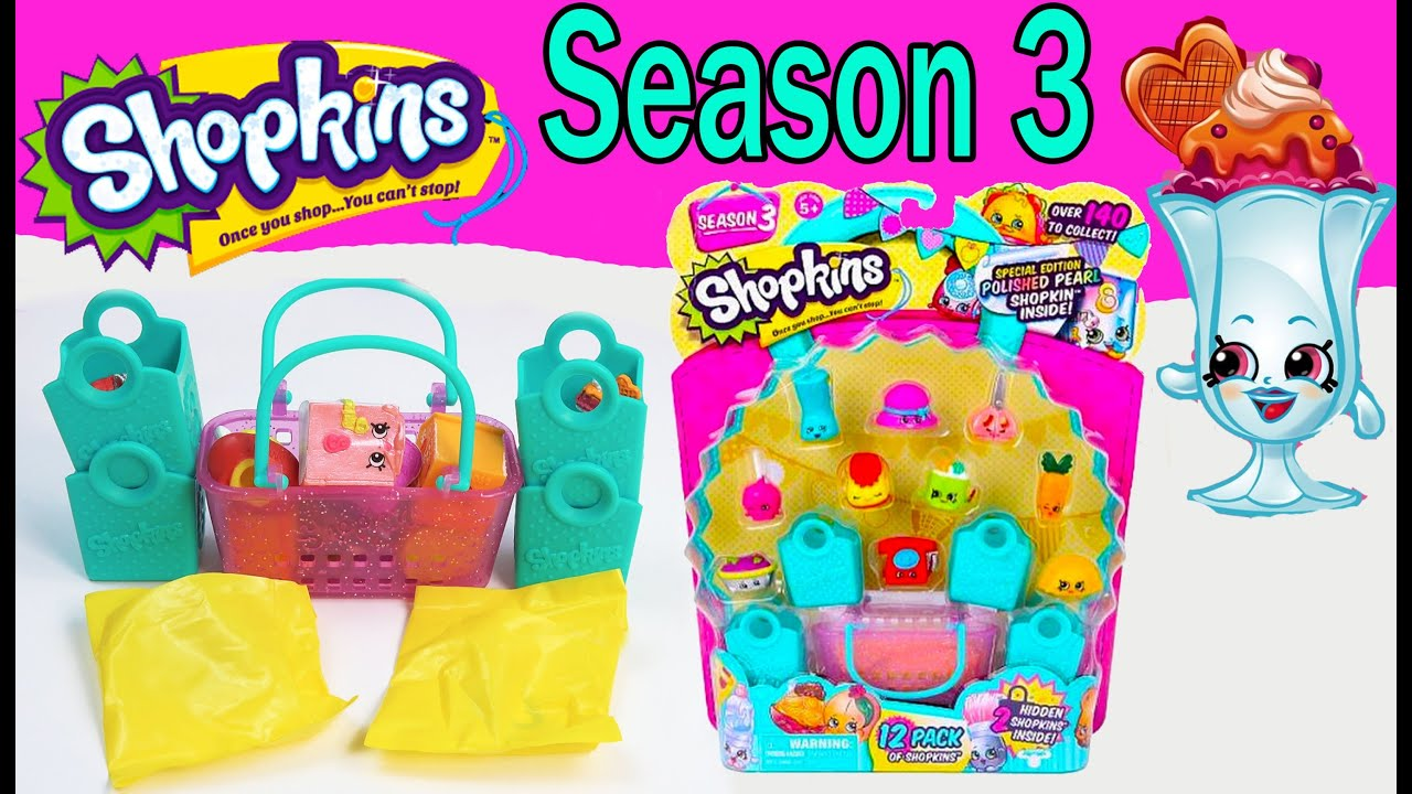 Shopkins Season 3 Opening 12 Pack and Friends from Toys R US.