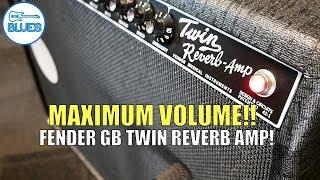 A Fender Twin Reverb Amp on Maximum Volume!