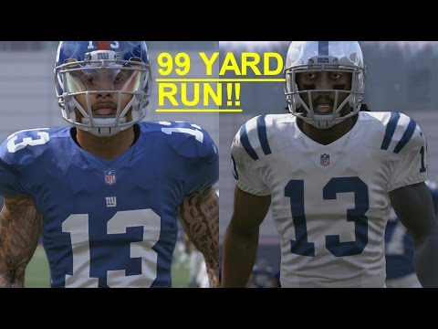 OBJ VS T.Y. HILTON AT RUNNING BACK WHO CAN GET A 99YD TOUCHDOWN FIRST!?!