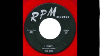Paul Anka -i Confess / Blau-wile-deveest-fontaine 1956 Rpm 472