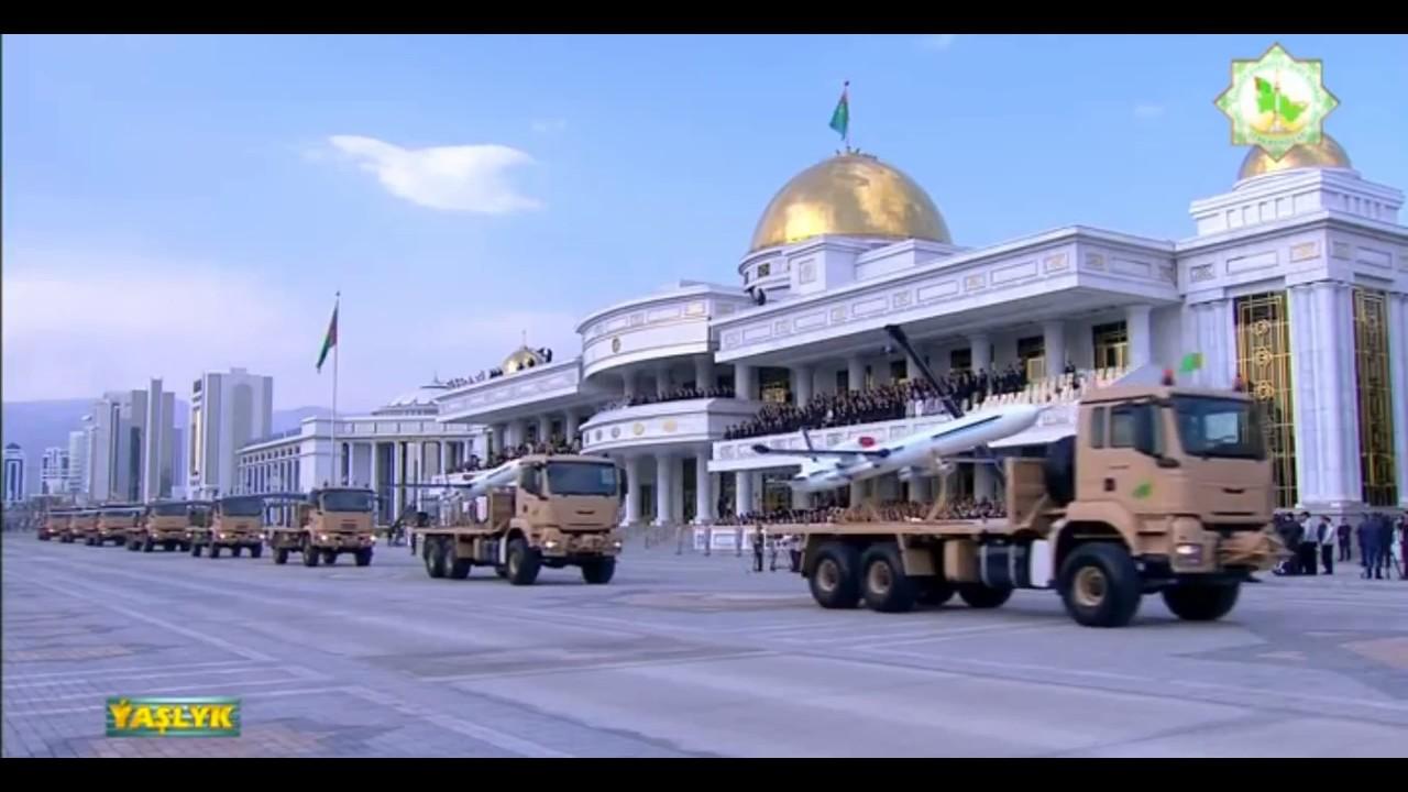 Военный парад в Туркмении 25 лет Независимости. 27 октября 2016 года