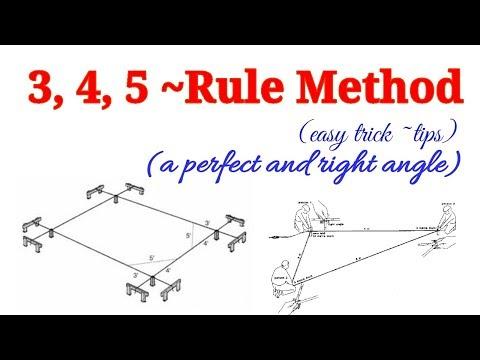 3 4 5 rule || How to Make a perfect Right Angle || 3, 4, 5 rule || 3,4,5 rule  || Guniya