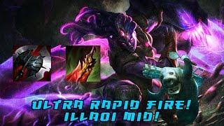 League of Legends Illaoi Mid URF - All Random Ultra Rapid Fire - ARURF - AlMOST GOT A PENTA?!