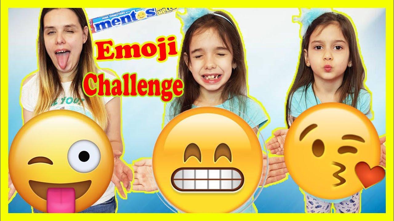 Mara și Teo 🤑 😜 EMOJI Challenge MENTOS
