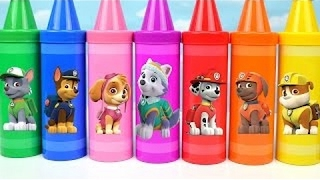 Learn Sorting Colors Toys Video Children Kids Paw Patrol Giant Crayons Nesting Toy Learning Surpris