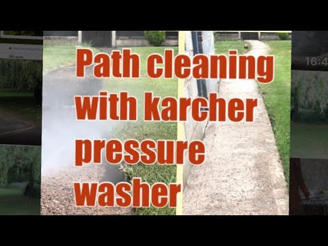Path Cleaning with Karcher pressure washer