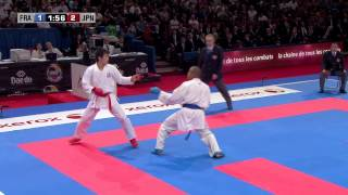 Final Male Kumite -84kg. Kenji Grillon vs Ryutaro Araga. WKF World Karate Championships 2012