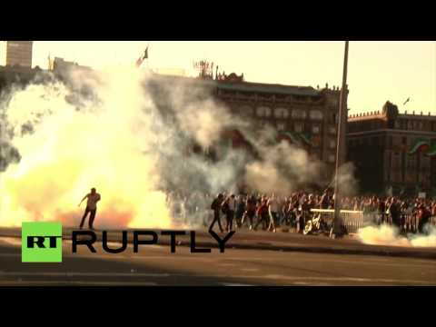 Explosives, clashes with police at Tlatelolco Massacre anniversary protest in Mexico