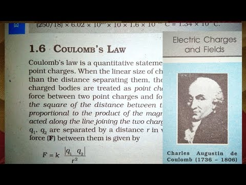 12 Th (NCERT) Physics-ELECTRIC CHARGE AND FIELD || CHAPTER-1 COULOMB'S LAW || Pathshala ( Hindi )