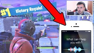 Using SIRI To WIN Fortnite Battle Royale!